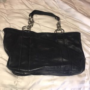 Juicy couture black leather tote